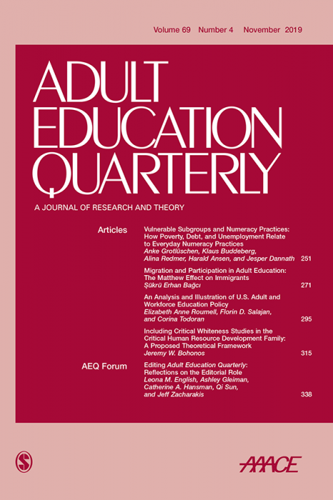 Adult Education Quarterly Journal Subscription