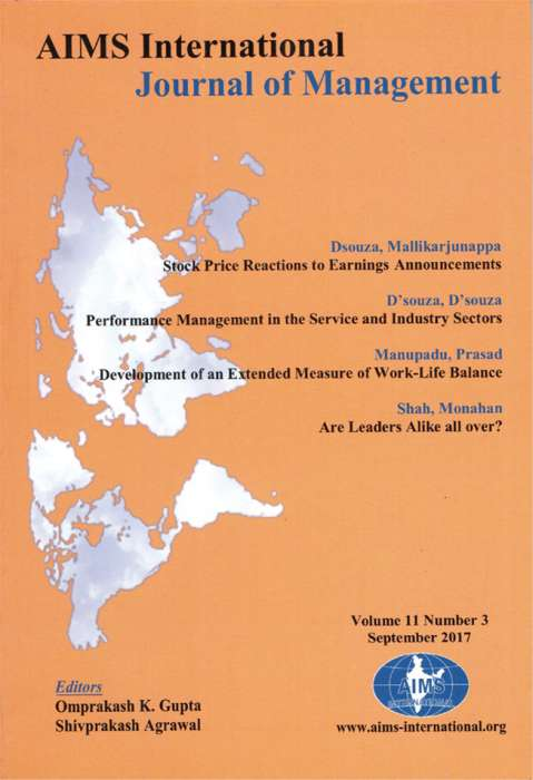 AIMS International Journal of Management Journal Subscription