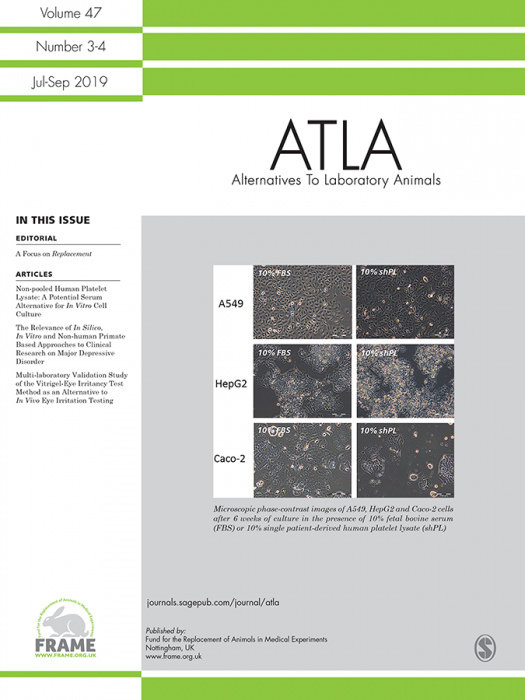 Alternatives to Laboratory Animals Journal Subscription