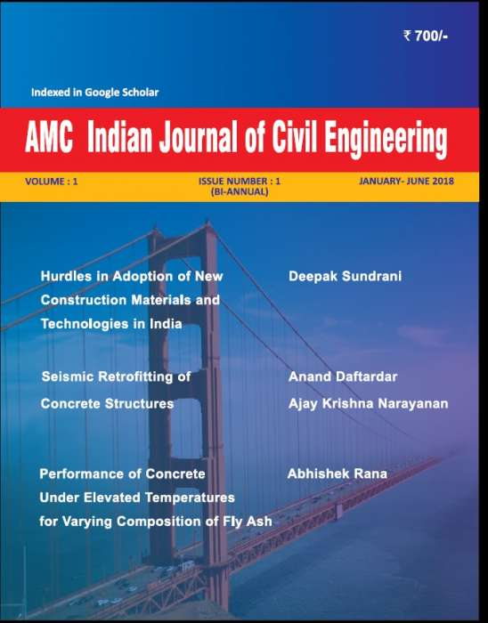 AMC Indian Journal of Civil Engineering Journal Subscription