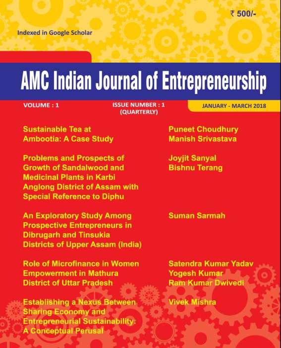 AMC Indian Journal of Entrepreneurship Journal Subscription