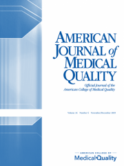 American Journal of Medical Quality Journal Subscription
