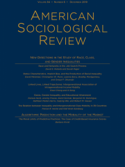 American Sociological Review Journal Subscription