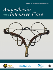 Anaesthesia and Intensive Care Journal Subscription