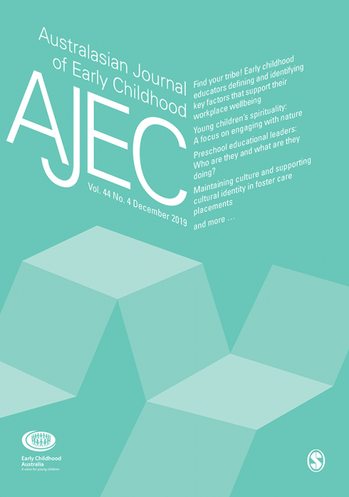 Australasian Journal of Early Childhood Journal Subscription