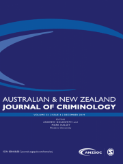 Australian and New Zealand Journal of Criminology Journal Subscription