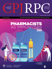 Canadian Pharmacists Journal Journal Subscription