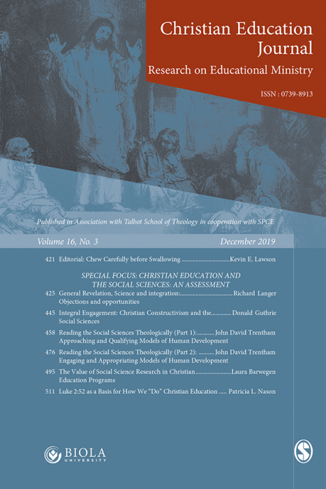 Christian Education Journal Journal Subscription