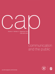 Communication & the Public Journal Subscription