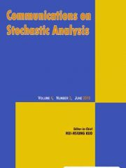 Communications on Stochastic Analysis Journal Subscription