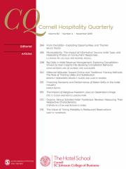 Cornell Hospitality Quarterly Journal Subscription