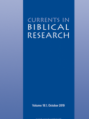 Currents in Biblical Research Journal Subscription
