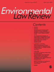 Environmental Law Review Journal Subscription