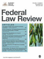Federal Law Review Journal Subscription