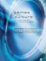 Games and Culture Journal Subscription