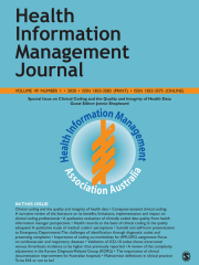 Health Information Management Journal Journal Subscription