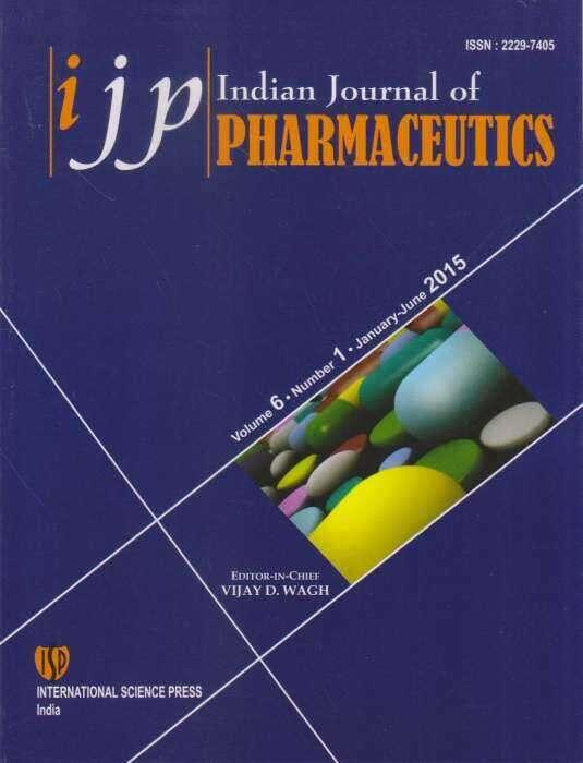 Indian Journal of Pharmaceutics Journal Subscription