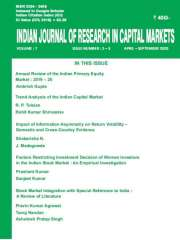 INDIAN JOURNAL OF RESEARCH IN CAPITAL MARKETS Journal Subscription