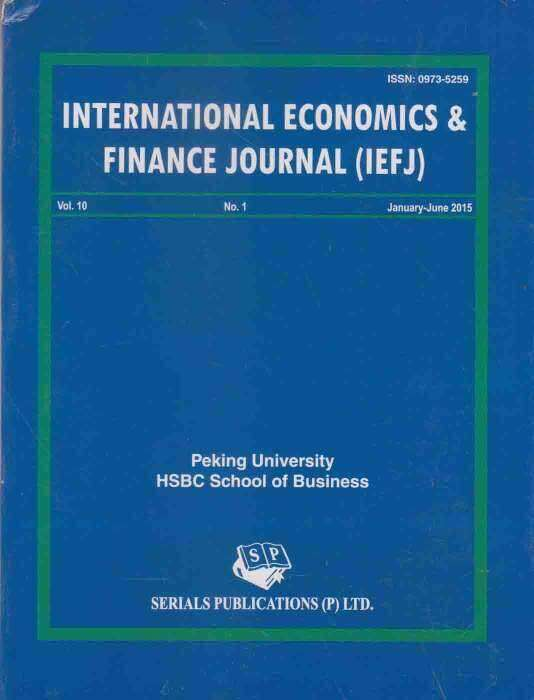 International Economics and Finance Journal Journal Subscription