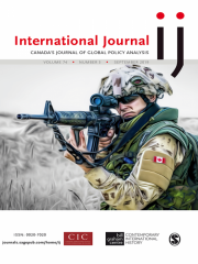 International Journal: Canada's Journal of Global Policy Analysis Journal Subscription