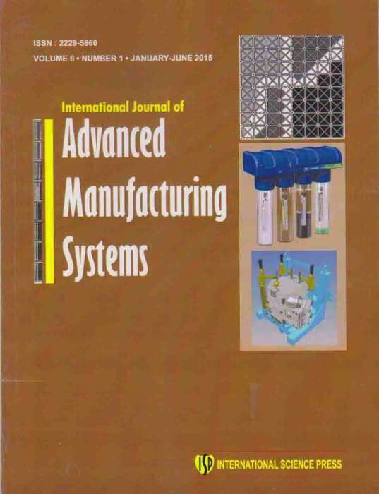 International Journal of Advanced Manufacturing System Journal Subscription