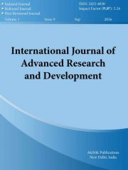 International Journal of Advanced Research and Development Journal Subscription