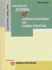 International Journal of Advances in Machining and Forming Operations Journal Subscription