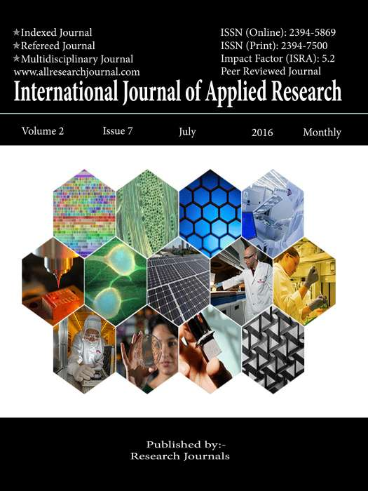 International Journal of Applied Research Journal Subscription