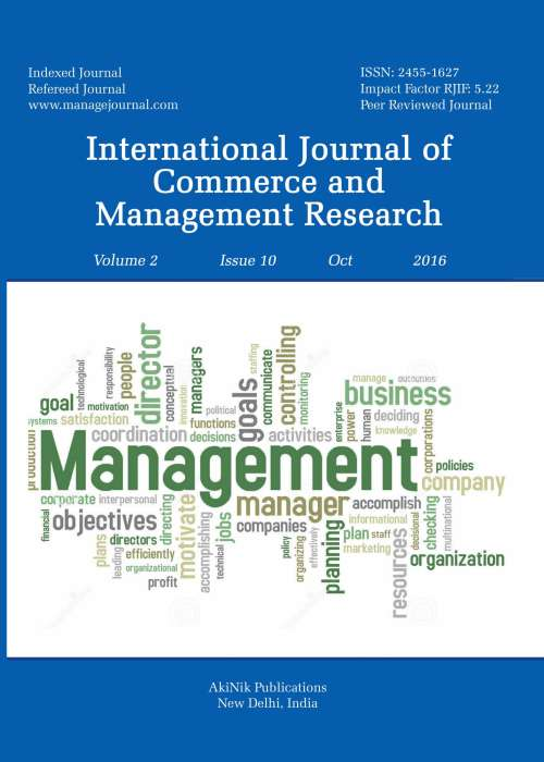 Buy International Journal Of Commerce And Management Research Subscription Akinik Publications