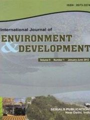 International Journal of Environment and Development Journal Subscription