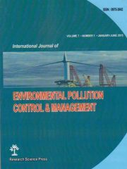 International Journal of Environmental Pollution Control and Management Journal Subscription