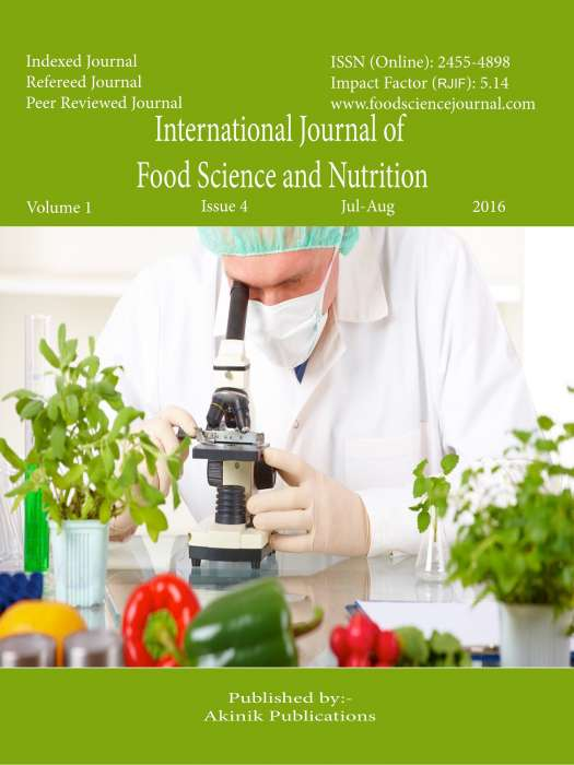 International Journal of Food Science and Nutrition Journal Subscription