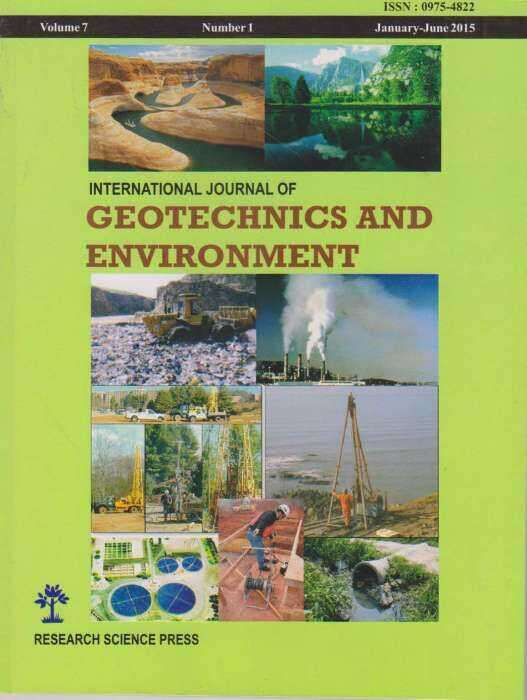 International Journal of Geotechnics and Environment Journal Subscription