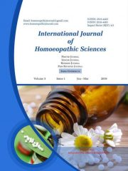 International Journal of Homoeopathic Sciences Journal Subscription