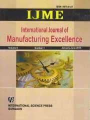 International Journal of Manufacturing Excellence Journal Subscription