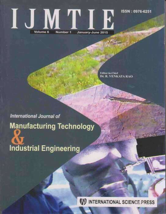 International Journal of Manufacturing Technology and Industrial Engineering