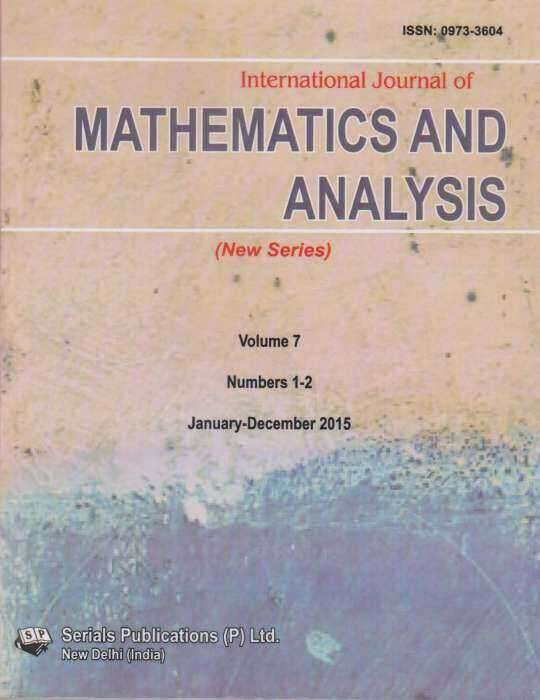 International Journal of Mathematics and Analysis Journal Subscription