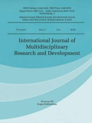International Journal of Multidisciplinary Research and Development Journal Subscription