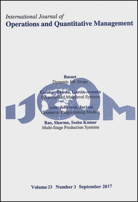 International Journal of Operations and Quantitative Management Journal Subscription