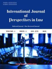 International Journal of Perspectives in Law Journal Subscription
