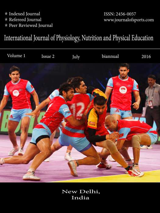 International Journal of Physiology, Nutrition and Physical Education Journal Subscription