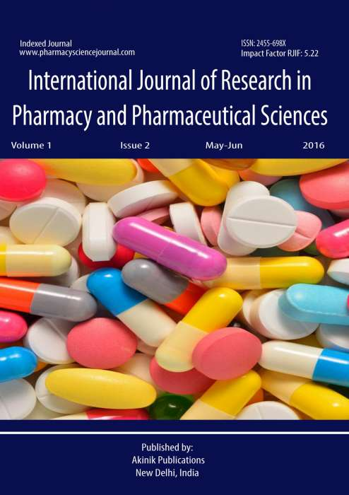 Buy International Journal of Research in Pharmacy and Pharmaceutical  Sciences Subscription - AkiNik Publications