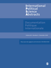 International Political Science Abstracts / Documentation Politique Internationale Journal Subscription