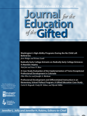 Journal for the Education of the Gifted Journal Subscription