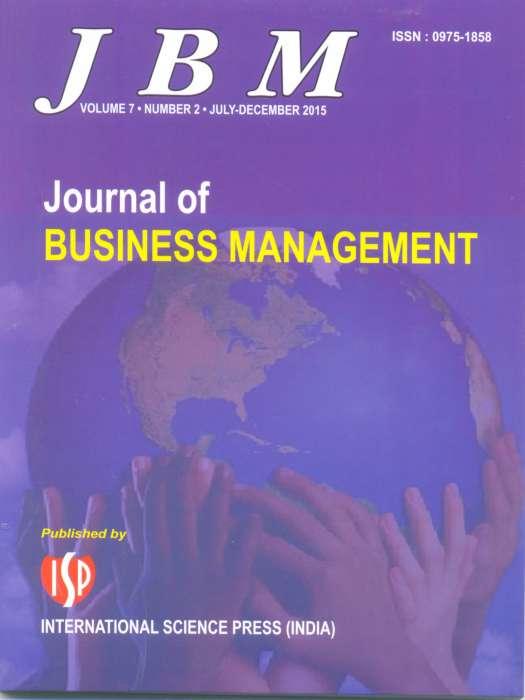 Journal of Business Management Journal Subscription