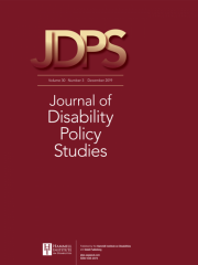 Journal of Disability Policy Studies Journal Subscription