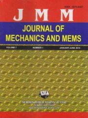 Journal of Mechanics and MEMS Journal Subscription