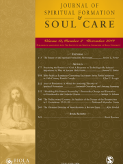 Journal of Spiritual Formation and Soul Care Journal Subscription