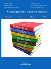 National Journal of Advanced Research Journal Subscription