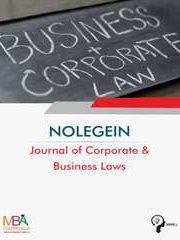 NOLEGEIN Journal of Corporate and Business Laws Journal Subscription